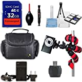 Canon PowerShot SX720 HS Digital Camera (Red) + Extremespeed 32GB High Speed Memory Card + High Speed Memory Card Reader + Spider Tripod + Camera Case and More