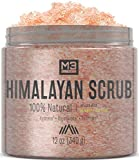 M3 Naturals Himalayan Salt Stem Cell & Collagen Infused Body & Face Scrub with Lychee Sweet Almond Oil All Natural Skin Care Exfoliating Blackheads Acne Scars Reduces Wrinkles 12 OZ