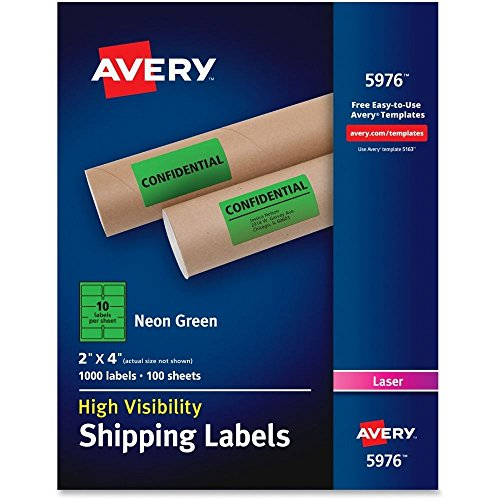 Avery High-Visibility Neon Shipping Labels - AVE5976 ##buydmi by lovithanko