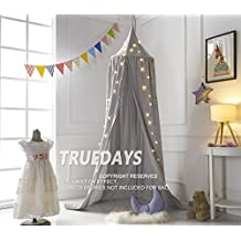 Truedays Dome Princess Bed Canopy Mosquito Net Children Room Decorate (Grey)