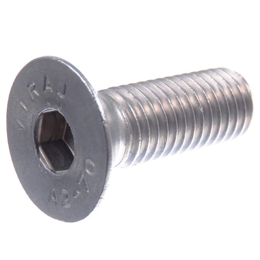 M6 ISO 10642 A2 V2A tornillos avellanados con hex/ágono interior DIN 7991