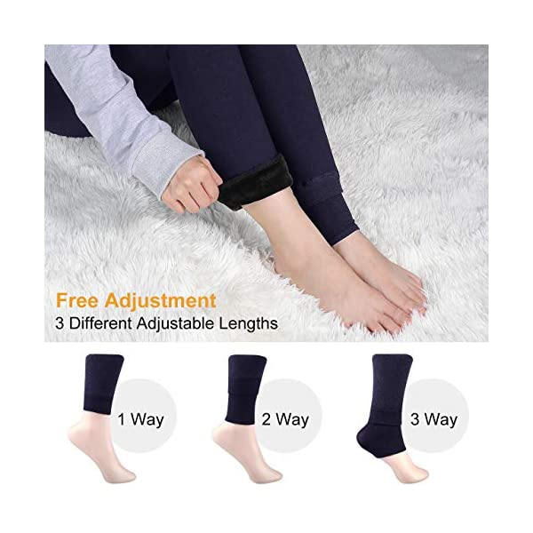 XDDIAS d'hiver Leggings Femme, 2 Paires Taille Haute Chaudes Leggings Thermique Pantalons Automne et Hiver – Noir…