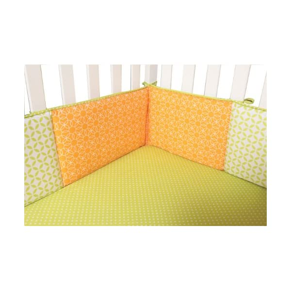 Trend Lab Savannah/Levi Crib Bumpers, Green/Orange