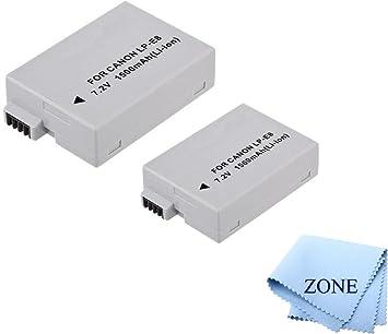 LP-E8, LPE8 - Batería y Cargador de batería para Canon EOS ...