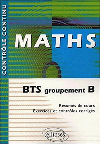 Livres gratuits Maths : BTS groupement B epub, pdf