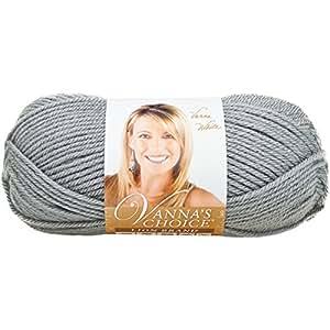 Lion Brand Yarn Company 1 pieza Hilo Vanna's Choice, Gris plateado