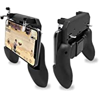 Golu 2 in 1 PUBG Mobile Game Controller and Mobile Gamepad Holder Handle Joystick Triggers L1 R1 Shoot Aim Button(Black)