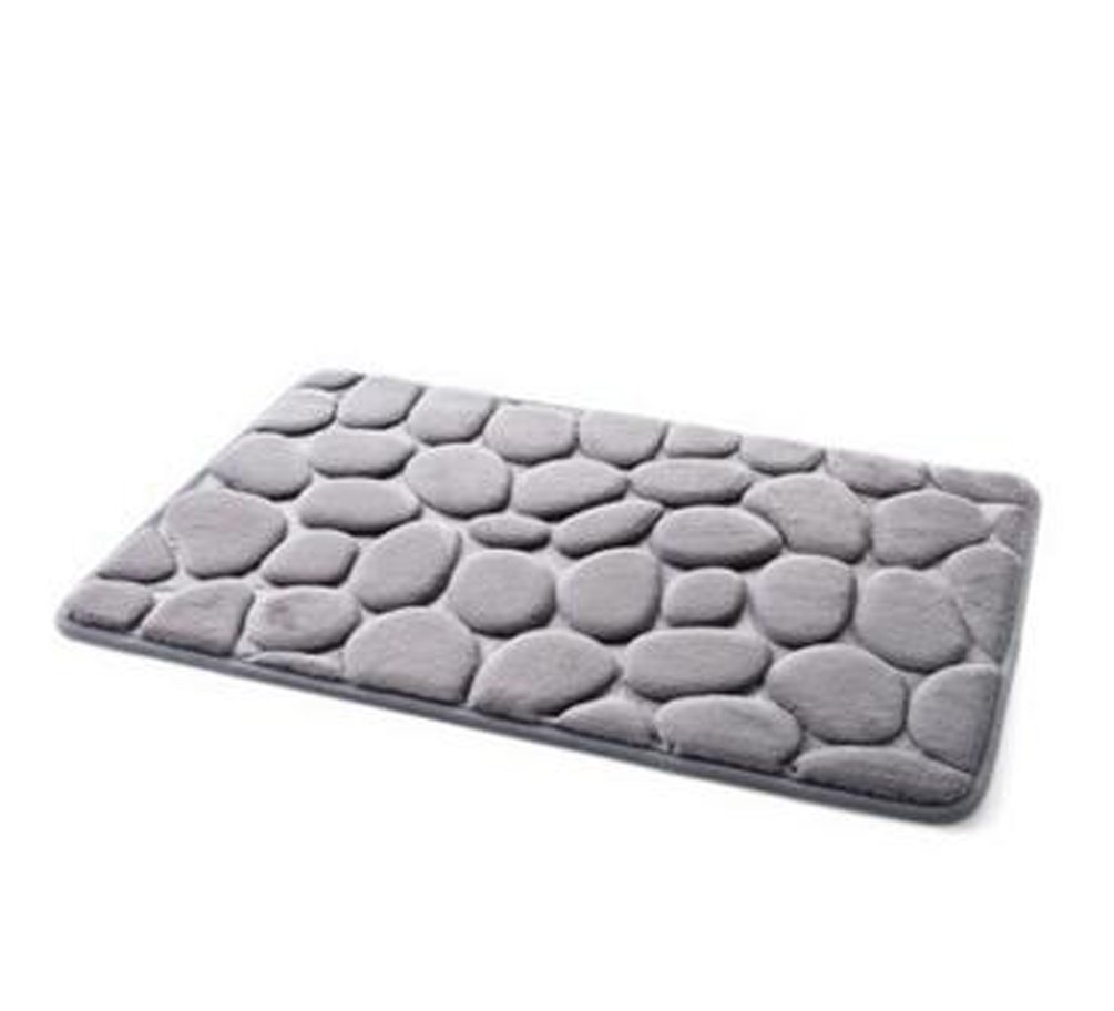 Absorbentes Memory Foam Badematte Anti-Rutsch-Matte Badezimmer Matte 40 * 60CM (grau) Live^_^Future