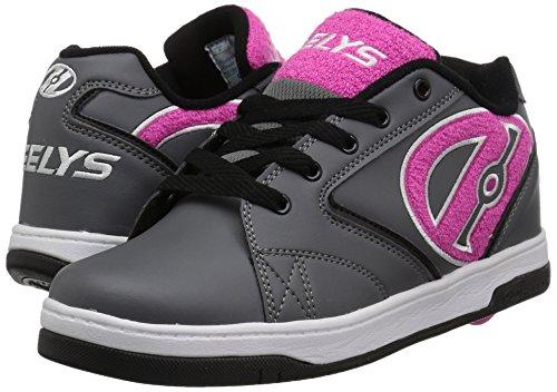 HEELYS PROPEL Schuh 2018 charcoal/pink terry logo Grau