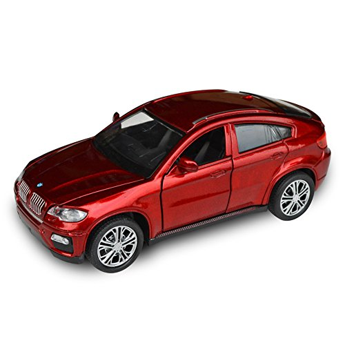 Tianmei BMW X6 Supercar Styling 1:32 Alloy Diecast Car Models Collection kids Toys Decoration Ornaments Light & Sound (Red Color) - 32 Red Diecast Car
