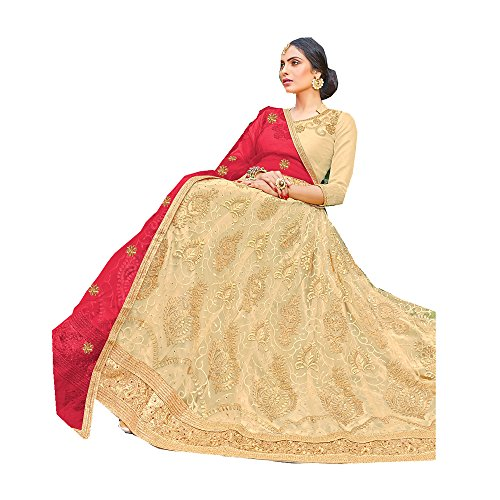 Da Facioun Indian Women Designer Wedding Beige Lehenga Choli KES-5177 by Da Facioun