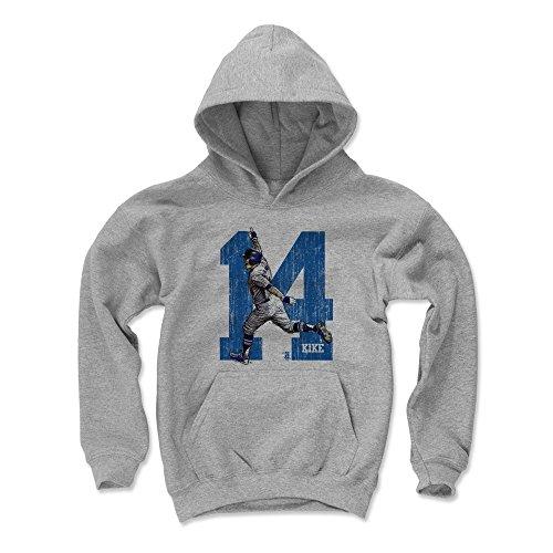 500 LEVEL Enrique Hernandez Los Angeles Baseball Youth Sweatshirt (Kids Medium, Gray) - Enrique Hernandez Home Run Celebration - 500 Home Run Baseball
