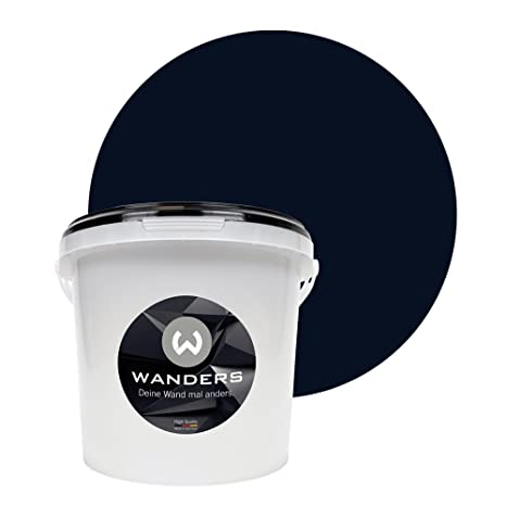 Wanders24 Pintura de pared pintura de pizarra mate (3 litros, Negro) lavable, creativo, escribible, pintura de pizarrón
