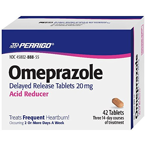 Perrigo Omeprazole Delayed Release, Acid Reducer Tablets 20 mg, 84 Count 2PK
