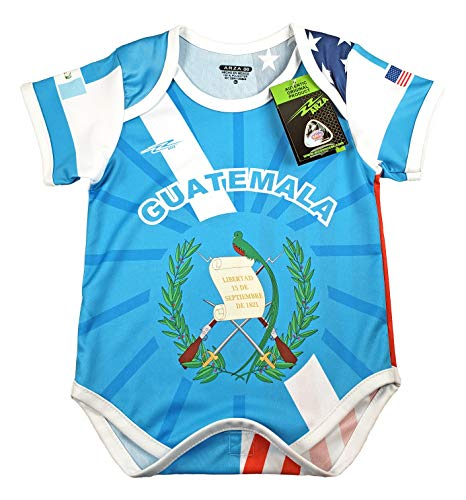 Guatemala and USA Soccer Baby Outfit Mameluco New