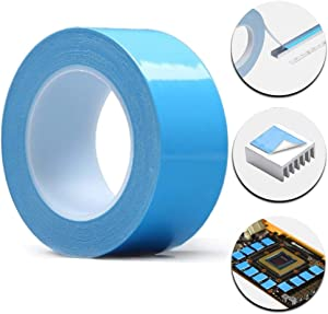 Tintvent Thermal Double Side Tapes,25Mx40mm,Heat Sink Tape,Thermal Adhesive Tape,Thermal Conductive Tape for LED Light,Heat Sink,Computer CPU, GPU Cooler,PC and More, Electrically Insulated