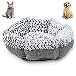 Pet Craft Supply Soho Round Machine Washable Memory Foam Comfortable Ultra Soft All Season Self Warming Cat Kitten Puppy Small Dog Bed