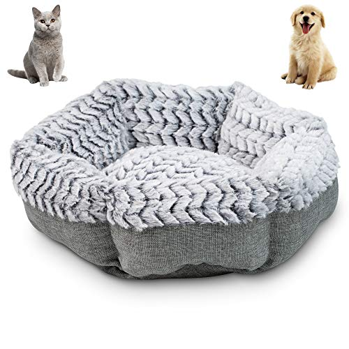 Pet Craft Supply Soho Round Dog Bed for Small Dogs – Cat Bed For Indoor Cats | Ultra Soft Plush | Memory Foam | Machine…