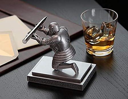 ThreeH Executive Knight Portapenne Portapenne con una penna Ddecoration personalizzata per il premio Office Office Premio Blu