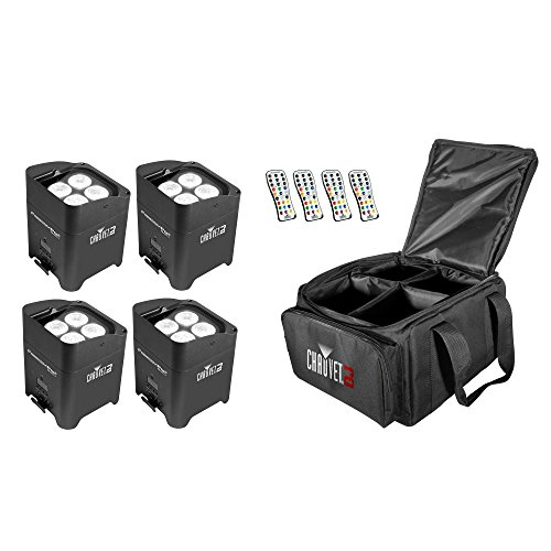 - Chauvet DJ Freedom Par Quad 4 Light Effect w/ Remote (4 Pack) & VIP Gear Bag