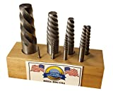 Drill Hog USA 8 Pc Spiral Easy Out Set Round Screw Extractor