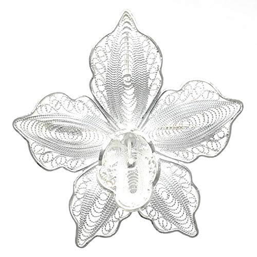 Handmade Sterling Silver .925 Bali Filigree Flower Brooch/Pin