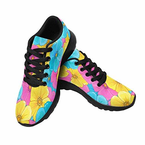 Interestprint Chaussures De Course De Trail Jogging Sport Léger Marche Athlétisme Sneakers Fleurs Modèle Multi 1