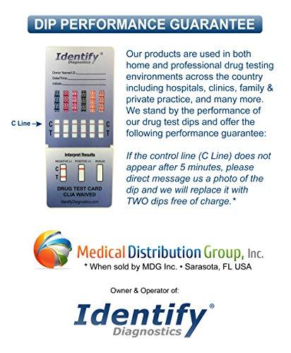 5 Pack Identify Diagnostics 12 Panel Drug Test Dip With
