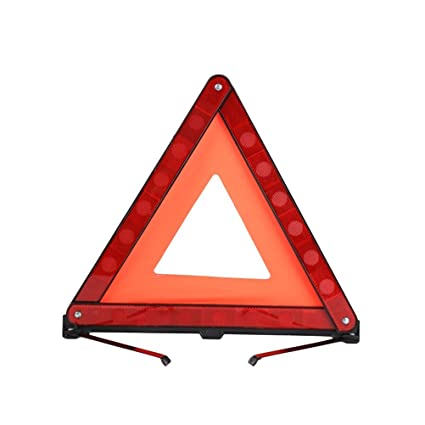 WINOMO 3 pcs advertencia triángulo de emergencia Advertencia Triángulo reflector triángulo de seguridad Kit para coche