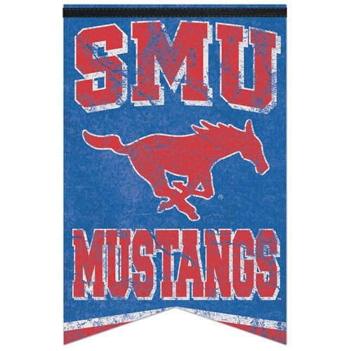 WinCraft NCAA Southern Methodist University WCR96432012 Premium Felt Banner, 17'' x 26'' by WinCraft