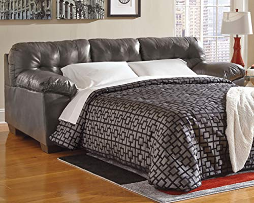 Ashley Furniture Signature Design - Alliston Contemporary Sleeper Sofa - Queen Size Mattress Included - ()