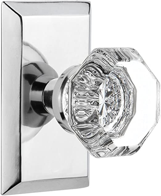 Nostalgic Warehouse Studio Plate With Waldorf Knob Passage 2 375 Bright Chrome Amazon Com