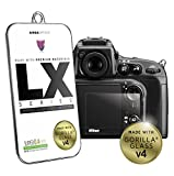 Nikon Screen Protector for LCD Screens [Authentic Corning Gorilla Glass 4] Premium LX Series 0.4mm Thick | For Nikon D7200 / D600 / D610 / D800 / D800e / D810 /DF / D750 / D4s