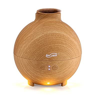 Housmile 3rd Version Aromatherapy Essential Oil Diffuser, 600ml Ultrasonic Cool Mist Humidifier,New Wood-like Grain Design, Auto Shut-off