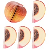 Baosity 5 Pcs Fruit Memo Pads Notebook Convenient Reminders to Keep with - Peach