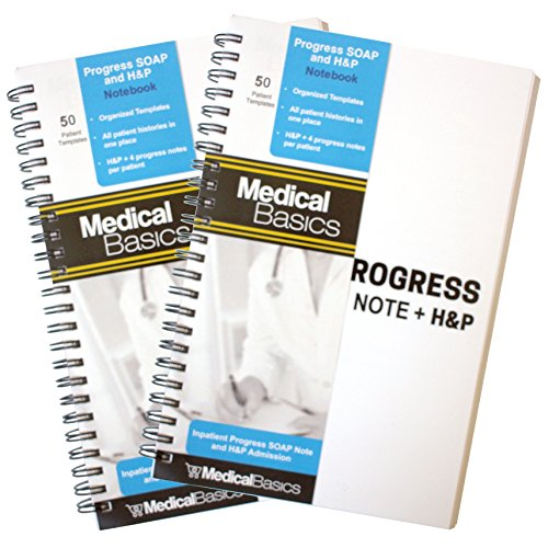 Paper Cover Premium Hp (Progress & H&P + 4 Day SOAP Notebook - Progress Note + Medical History and Physical notebook, 50 templates with perforations)