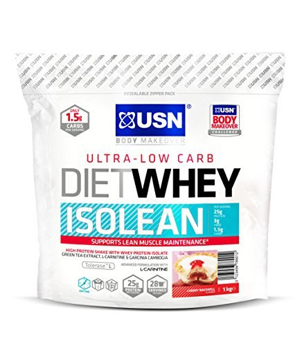 USN Diet Whey Isolean Protein, Cherry Bakewell - 1 kg by USN by Ultimate Sports Nutrition