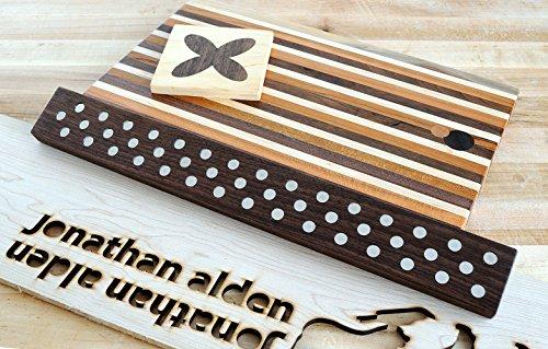 Magnetic Wooden Knife Bar Holder: 12 INCH WALNUT, Danish Design Inspired by Jonathan Alden (Image #3)