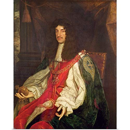 GREATBIGCANVAS Poster Print Entitled Portrait of King Charles II, c.1660-65 by John Michael Wright -