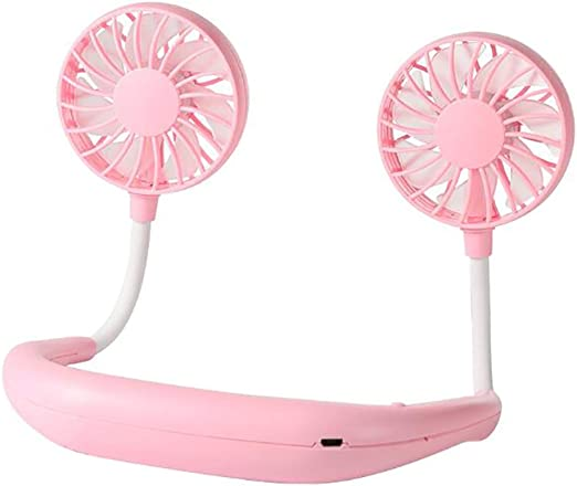 WT Portable Neck Fan,USB Rechargeable Hands-Free Personal Fans Headphone Design Mini Cooler Wearable Neckband Fans for Outdoor-a 26x18cm 10x7inch