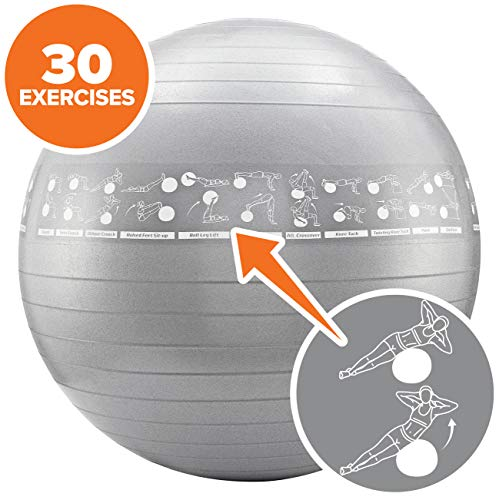NewMe Fitness Exercise Ball with Exercises (55cm) ()