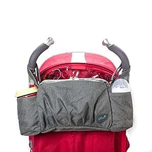 Gitta On-The-Go Baby Stroller Organizer Storage Holder Bag Bucket, Black Denim