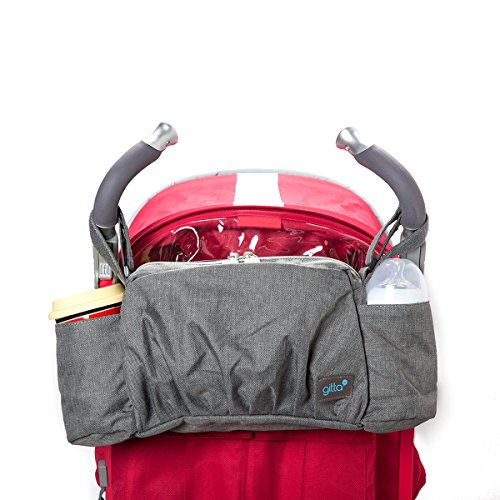 Gitta On-The-Go Baby Stroller Organizer Storage Holder Bag Bucket, Black Denim