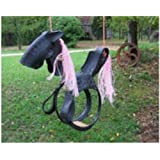 Classic Pony Horse Swing Made From Real Soft ATV or Turf Tires Has Stirrups and Handles Grip for Safe Riding Hand-crafted in USA