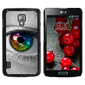 LECELL -- Funda protectora / Cubierta / Piel For LG Optimus L7 II P710 / L7X P714 -- Colorful Eye Iris --