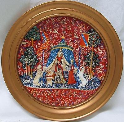 (Stunning French Limoges Haviland & Parlon Porcelain Plate: La Dame a La Licorne)