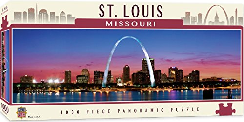 MasterPieces Cityscapes Panoramic Jigsaw Puzzle, Downtown Saint Louis, Missouri, Photographs by James Blakeway, 1000 Pieces