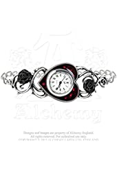 Bed of Blood Red Roses Wrist Watch By Alchemy 1977