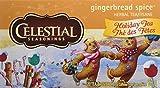 Celestial Seasonings Holiday Herbal Tea, Gingerbread Spice, 20 Count