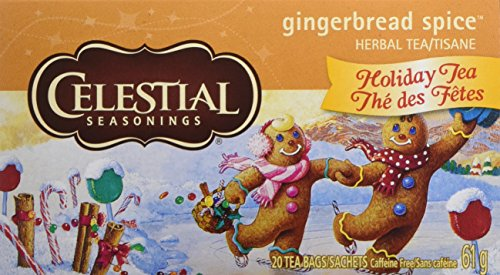 - Celestial Seasonings Holiday Herbal Tea, Gingerbread Spice, 20 Count